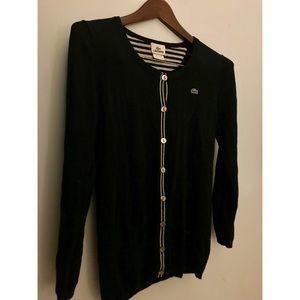 Lacoste Women's Black Cardigan !! 🐊🖤